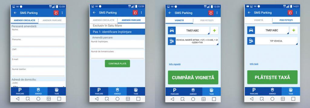 SMS Parking - Amenzi si taxe