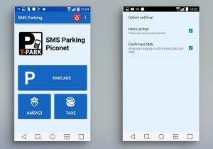 SMS Parking Romania Home și Norificări