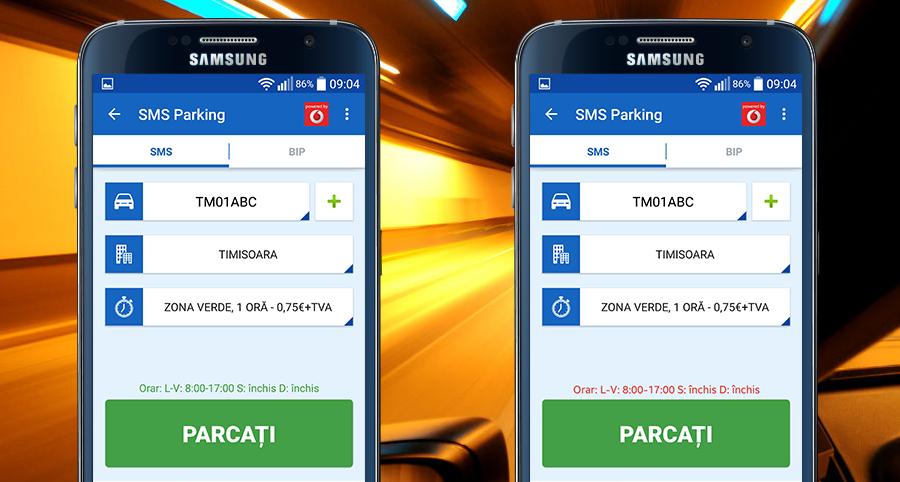 SMS Parking - orar parcări